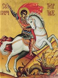 Георгий победоносец убивающий змея кольчугинский самовар